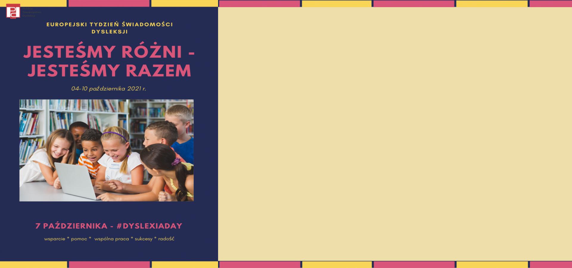 Europejski Tydzień Świadomości Dysleksji 2021